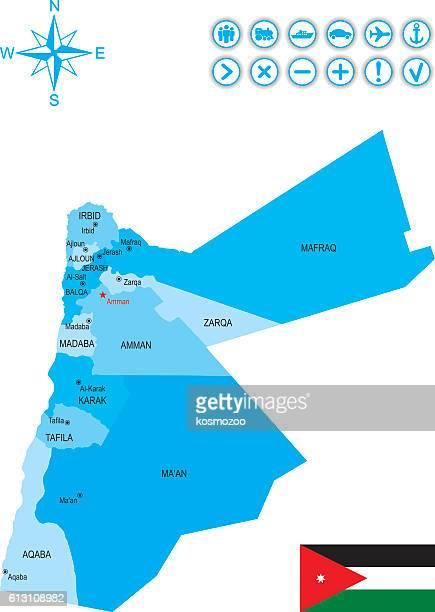 jordan - jordan middle east stock illustrations, clip art, cartoons, & icons