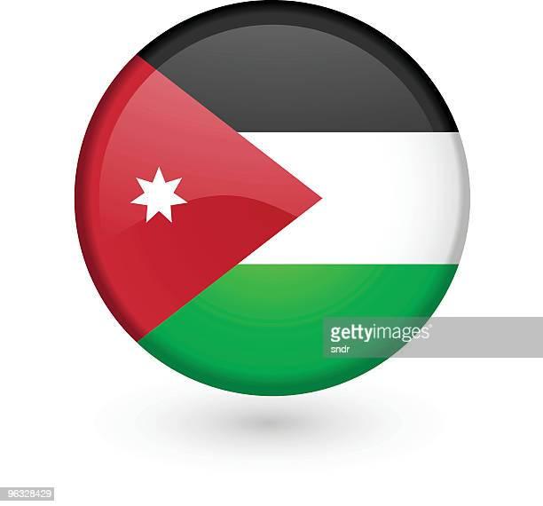 Jordanian flag vector button