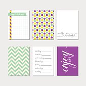 Journaling cards set