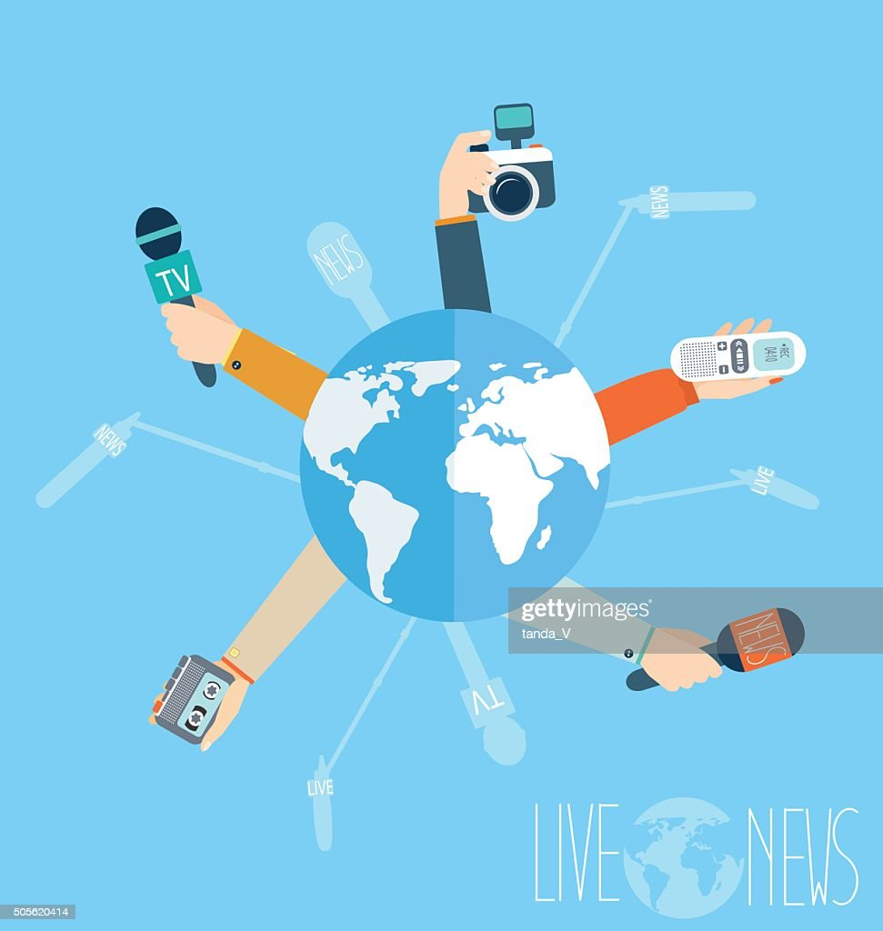 Journalism concept vector illustration in flat style.