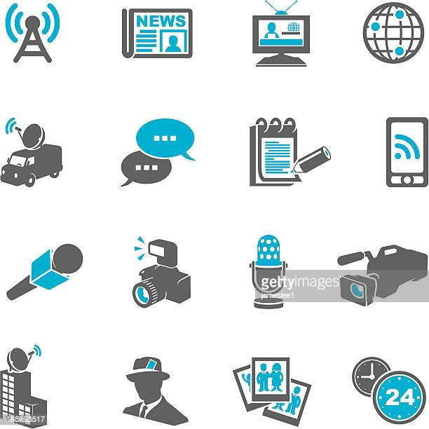 journalism icons - antenna aerial stock illustrations, clip art, cartoons, & icons