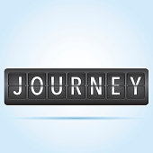 Journey departure board