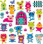 joy animals clip art set