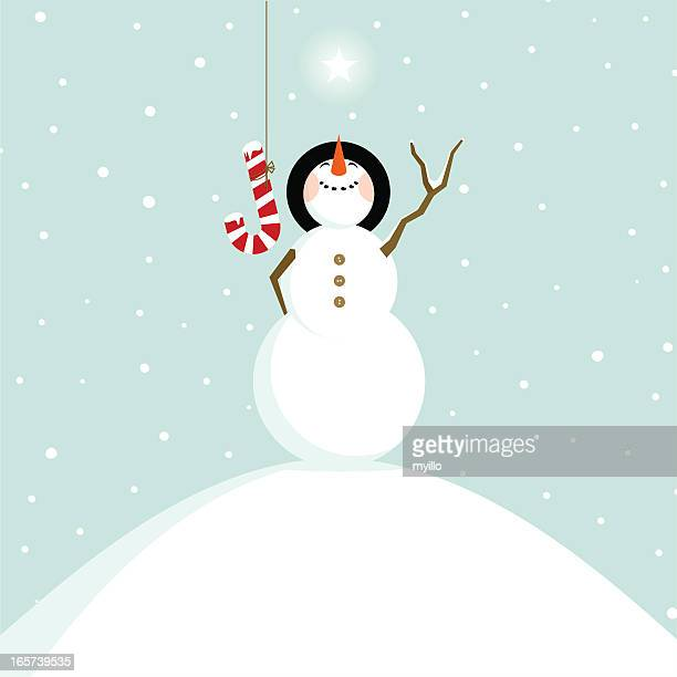 joy christmas snowman fun happy illustration vector - holiday travel stock illustrations, clip art, cartoons, & icons