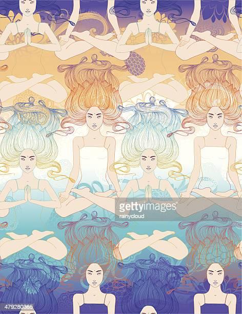 illustrations, cliparts, dessins animés et icônes de joy de yoga - chakra