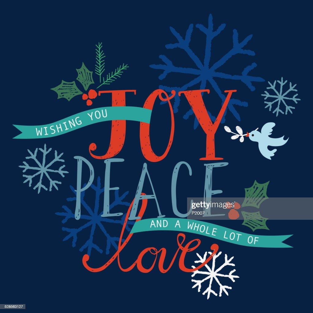Joy, Peace and Love Holiday Card