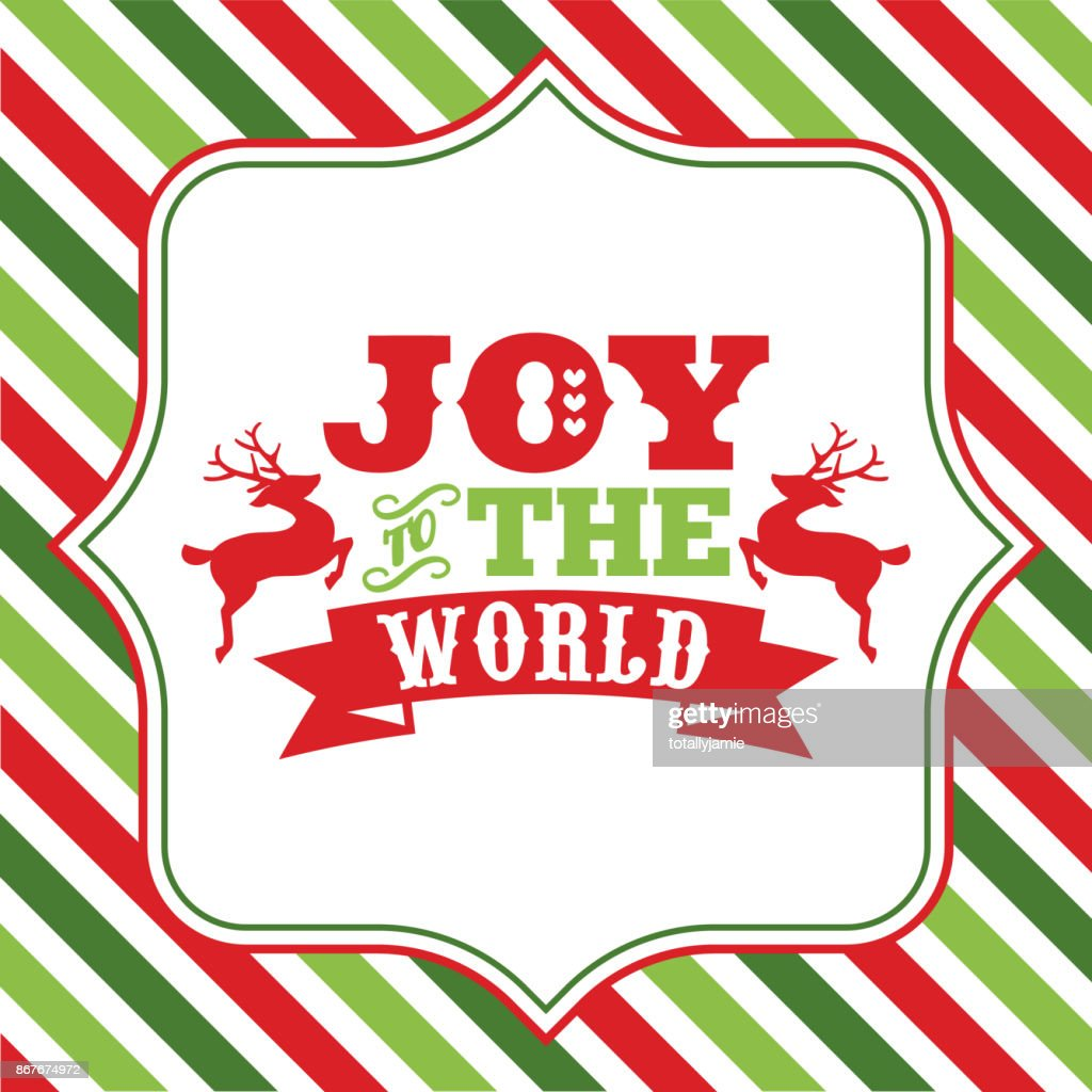 Joy To The World Christmas Sayings Word Art Vector Art | Getty Images