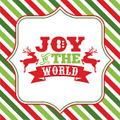 Joy to the world christmas sayings word art