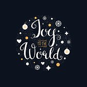 Joy to the World. Hand Lettering Sign