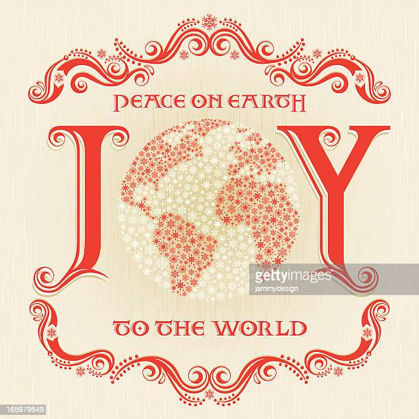 joy to the world - joy stock illustrations