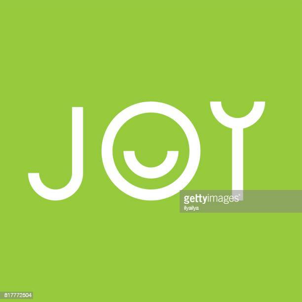 joy vector emblem - joy stock illustrations