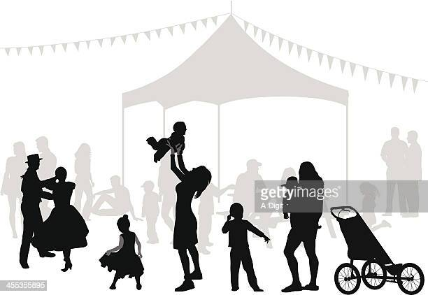 joy vector silhouette - three wheeled pushchair stock illustrations, clip art, cartoons, & icons