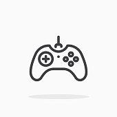 Joystick icon in line style.