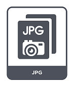 jpg icon vector on white background, jpg trendy filled icons from File type collection