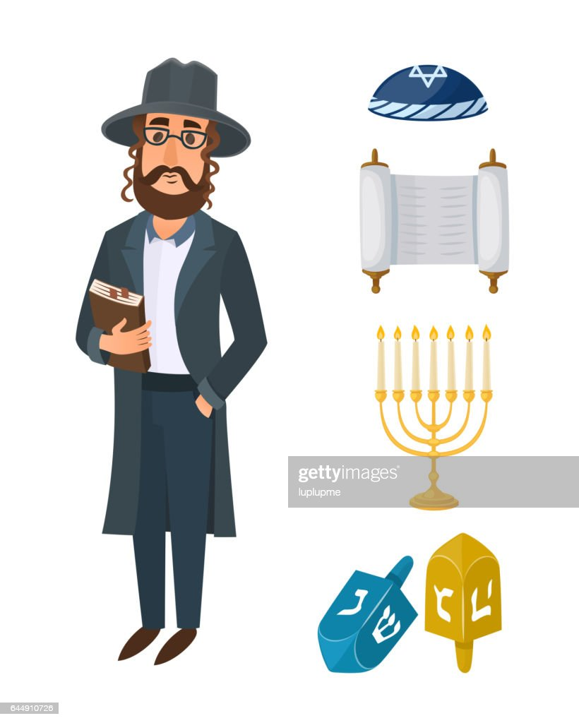 Judaism Church Traditional Symbols Isolated Hanukkah Religious