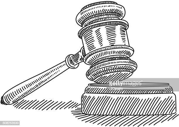 Judge gavel Drawing