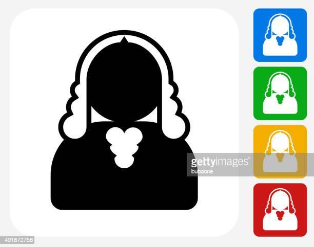 Judge Icon Flat Graphic Design