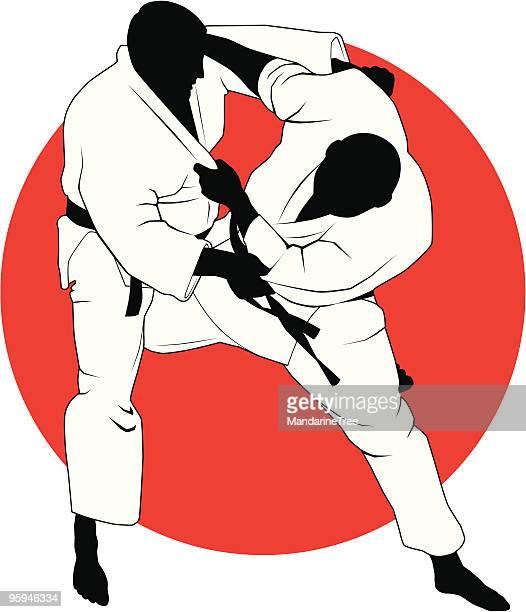 illustrations, cliparts, dessins animés et icônes de combattants de judo - judo