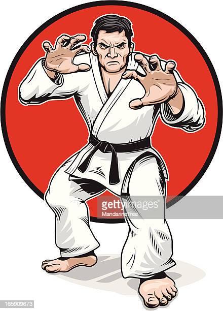 ilustrações de stock, clip art, desenhos animados e ícones de judo guerreiro - judo