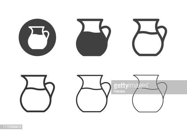 ilustrações de stock, clip art, desenhos animados e ícones de jug of water icons - multi series - caneca