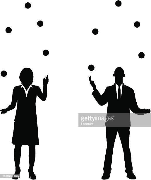 juggling business - juggling stock illustrations, clip art, cartoons, & icons