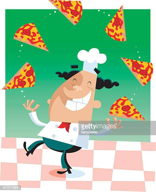 Juggling Pizza Chef
