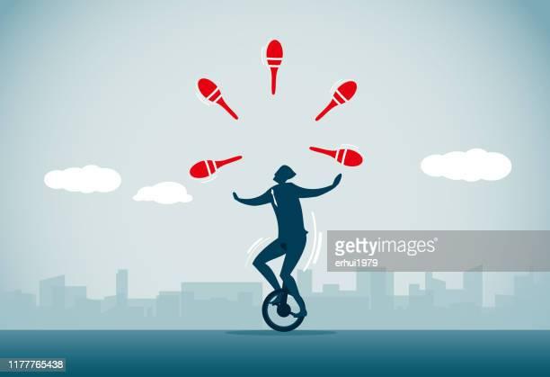 juggling - skill stock illustrations