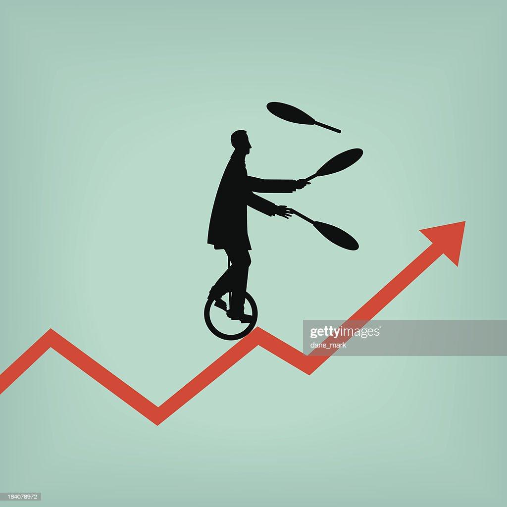 Juggling : stock illustration