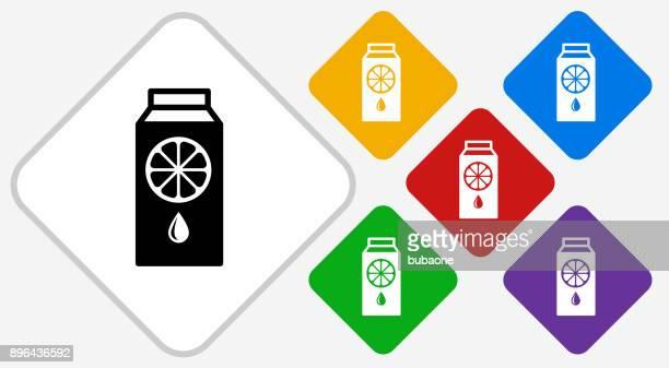 Juice Color Diamond Vector Icon