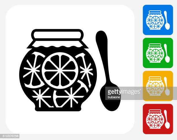 Juice Icon Flat Graphic Design
