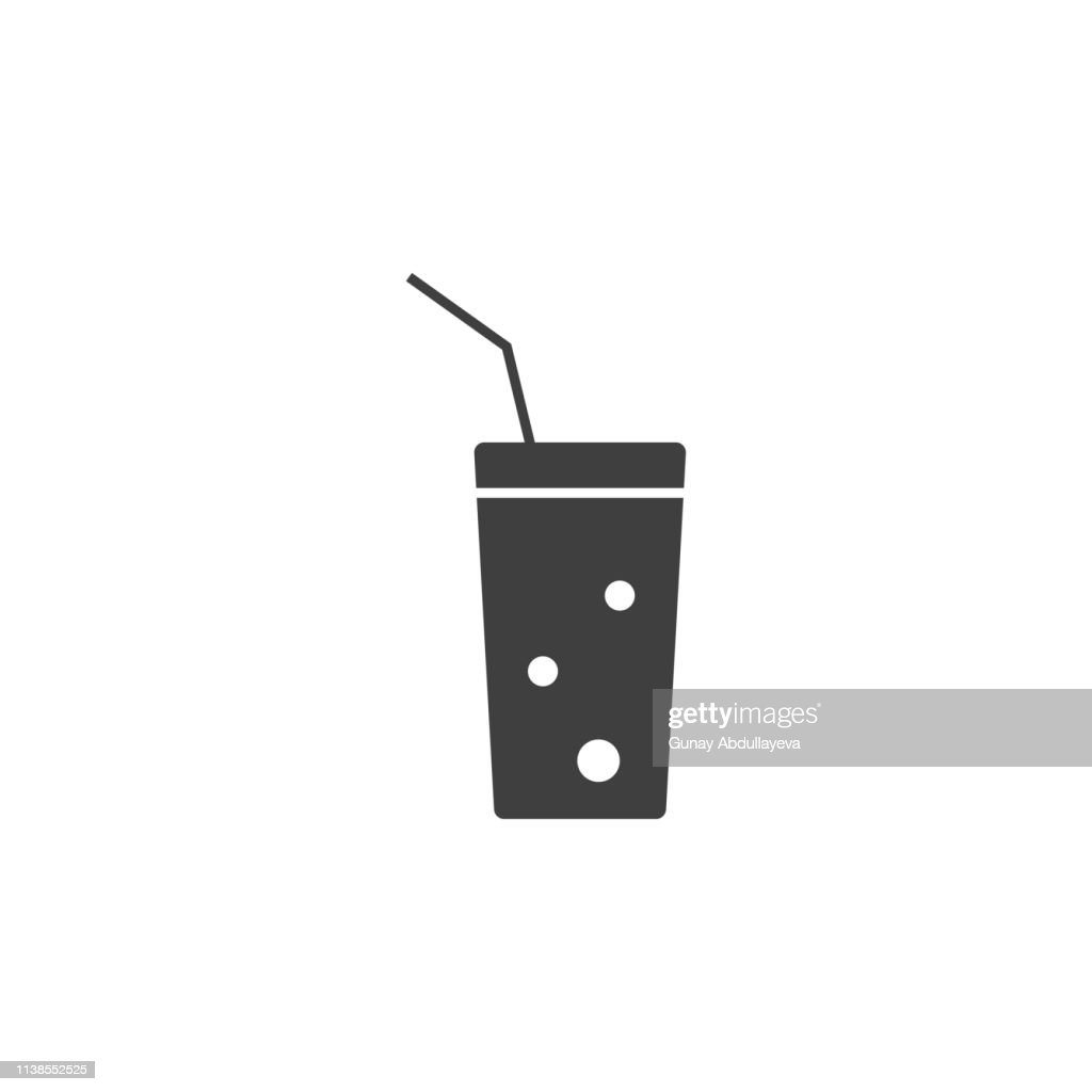 juice in a cup icon. One of the collection icons for websites, web design, mobile app