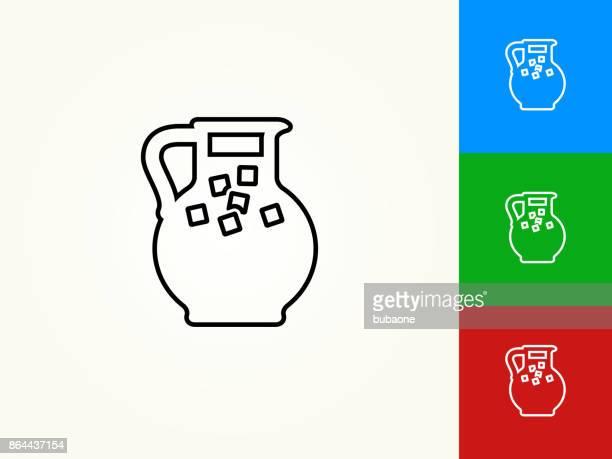 Juice Jug Black Stroke Linear Icon
