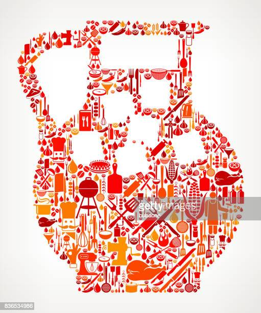 Juice Jug Cooking and Food Vector Icon Pattern