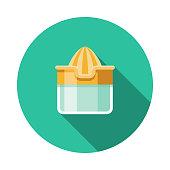 Juicer Flat Design Breakfast Icon