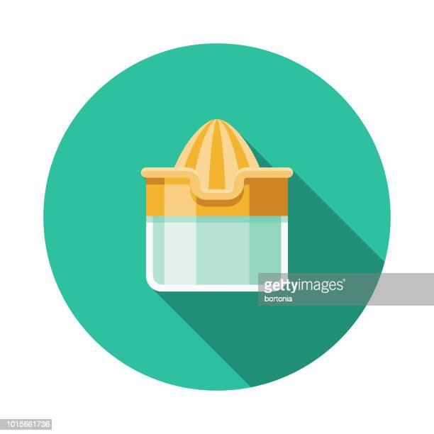 juicer flat design breakfast icon - orange juice stock illustrations, clip art, cartoons, & icons
