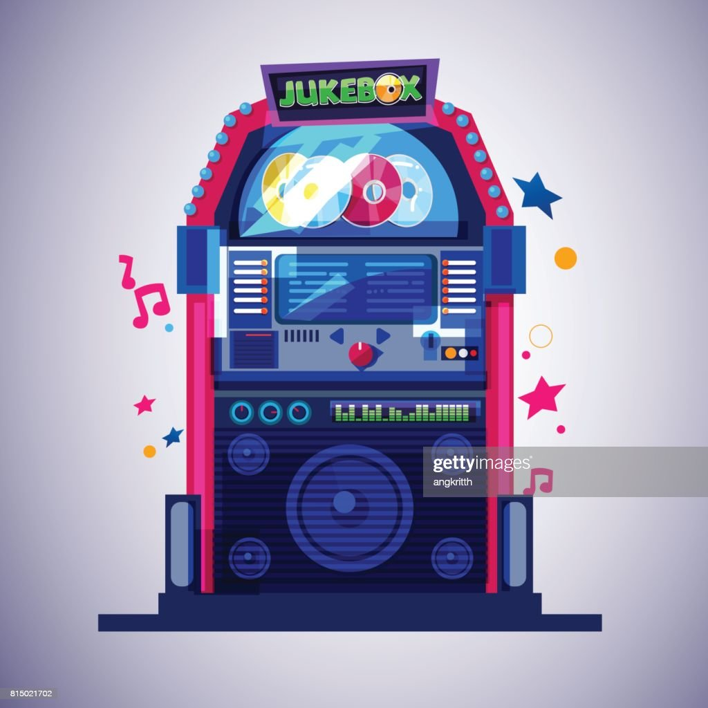 Jukebox. music concept - vector