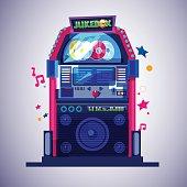 Jukebox. music concept - vector