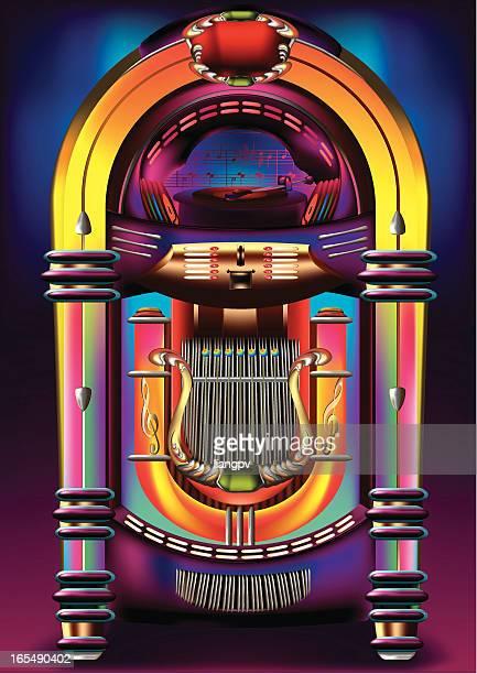 jukebox - leisure equipment stock illustrations