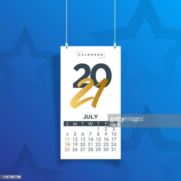 july 2021. calendar 2021 design template week start on sunday. stock illustration - june stock illustrations