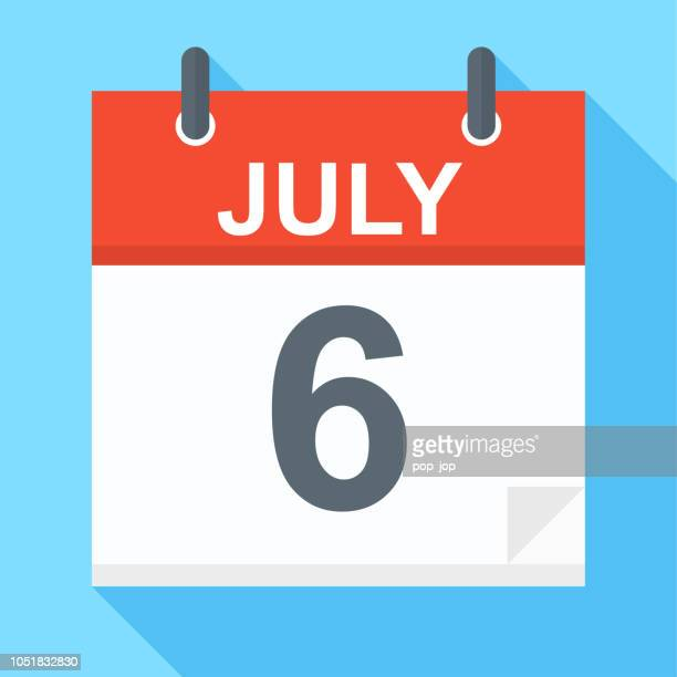 6 Juli - Kalender-Symbol