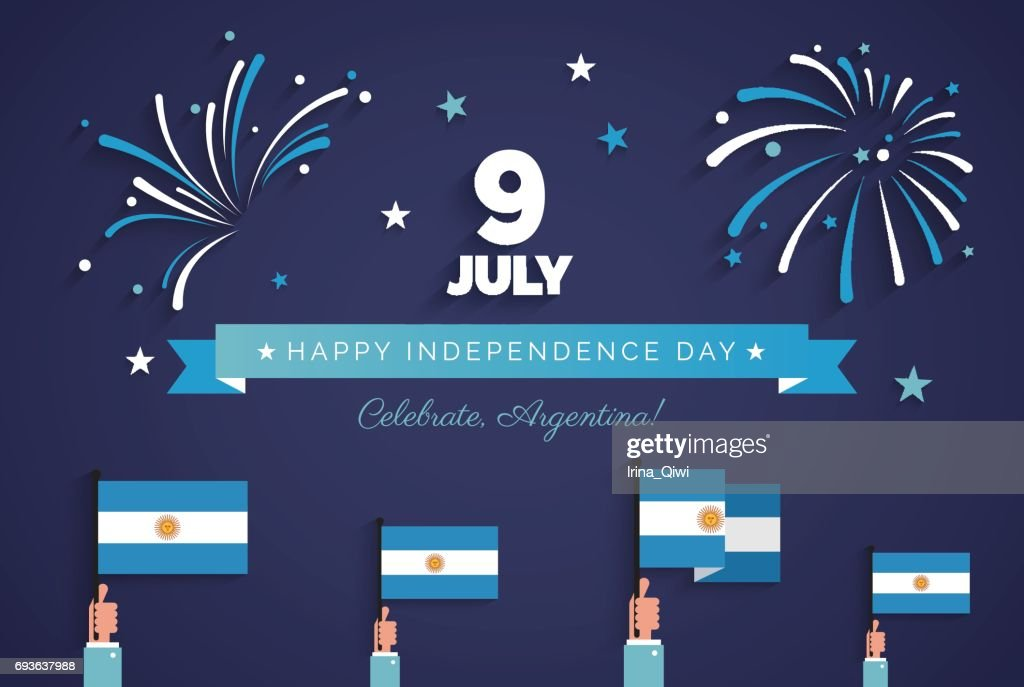 9 July, Argentina Independence Day greeting card.