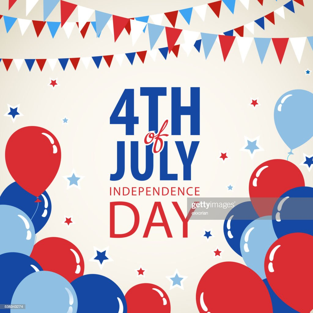 July Fourth Invitation : Stock Illustration