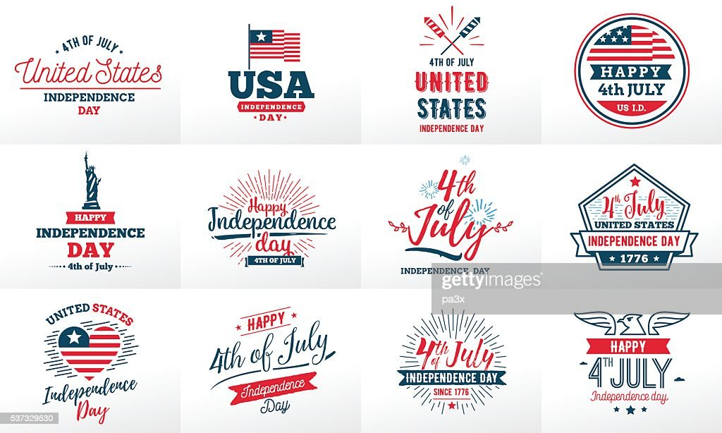 July fourth, United Stated independence day greeting.