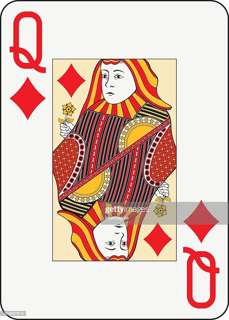 Jumbo index queen of diamonds
