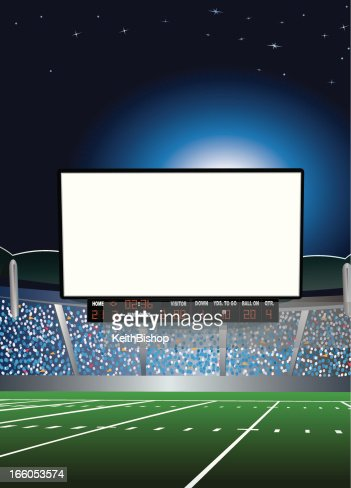Jumbotron Large Scale Screen In Football Stadium