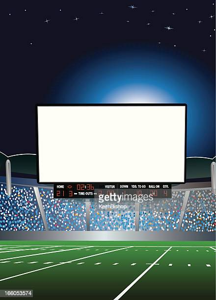 Jumbotron - Large Scale Screen in Football Stadium Background