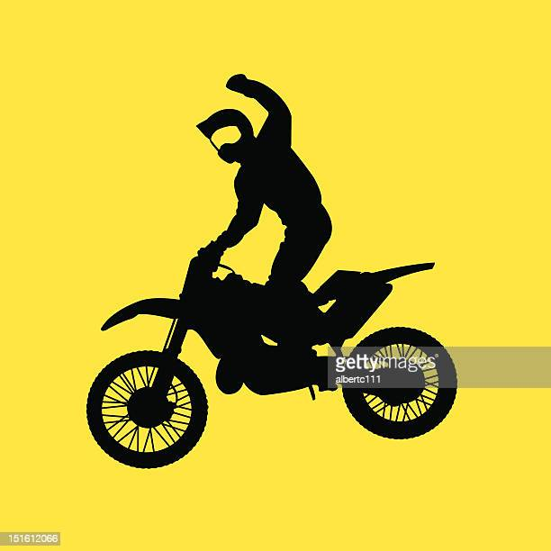 jump for the crowd - motocross stock illustrations, clip art, cartoons, & icons