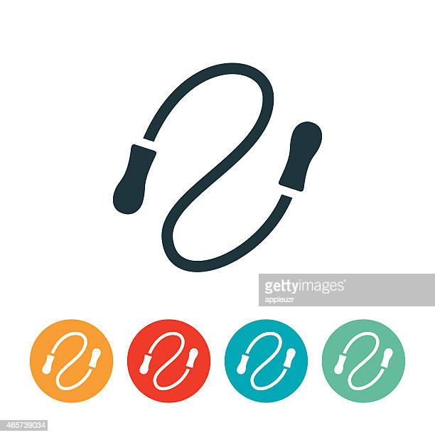 jump rope icon - jump rope stock illustrations, clip art, cartoons, & icons