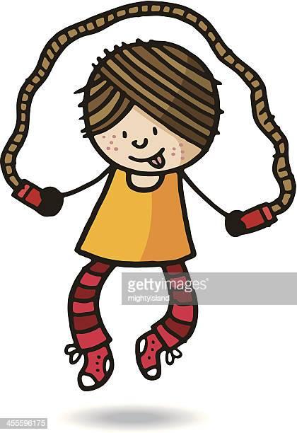 jump rope - jump rope stock illustrations, clip art, cartoons, & icons