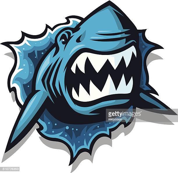 jump the shark - great white shark stock illustrations, clip art, cartoons, & icons
